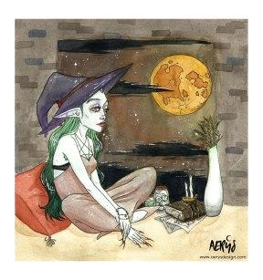 La sorcière et la lune rousse
